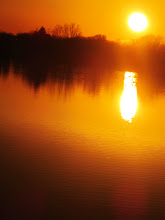 Photo: Rippling fiery sunset on a lake at Eastwood Park in Dayton, Ohio.