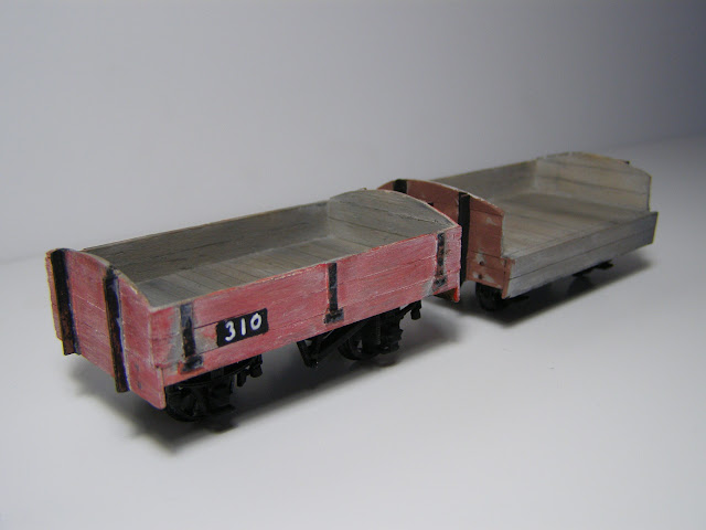 Balsa drop-sided open wagons