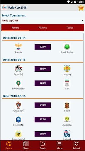 Livescore : World Cup Russia 2018 2.1.0 screenshots 2