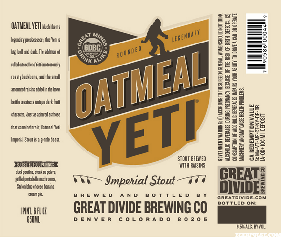 Logo of Great Divide Oatmeal Yeti