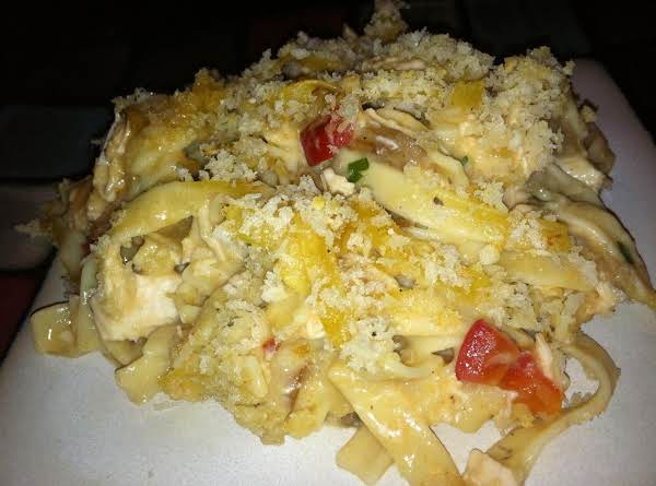Panko Toppd Chicken/veggie Noodle Casserole Recipe