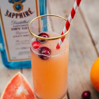 Cranberry Citrus Champagne Cocktail.