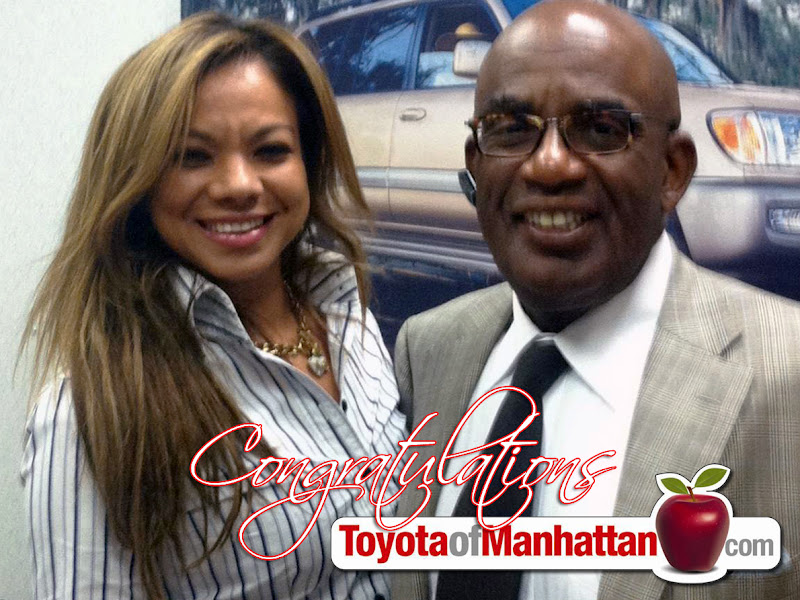 Photo: Al Roker with our Finance Manager Nancy Sciortino. Another Happy Toyota of Manhattan Customer! Thank you Mr. Roker for choosing Toyota of Manhattan!