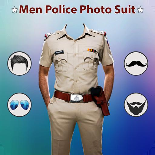 Man Mustache Police Photo Suit : Police Photo Suit