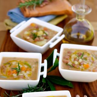 Zuppa di Fagioli e Orzo (Borlotti Beans & Barley Soup)