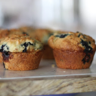 Fresh Blueberry and Greek Yogurt Muffins
