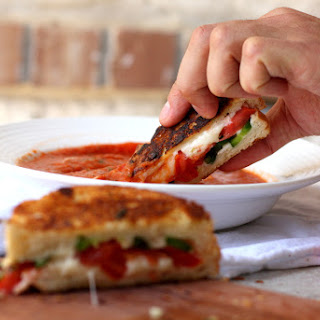 Caprese Grilled Cheese with Buttery Garlic Bread