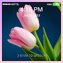 Lock screen Wallpaper: Tulip icon