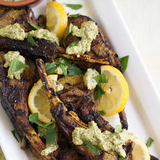 Indian-Spiced Lamb Lollipops with Mint Pesto