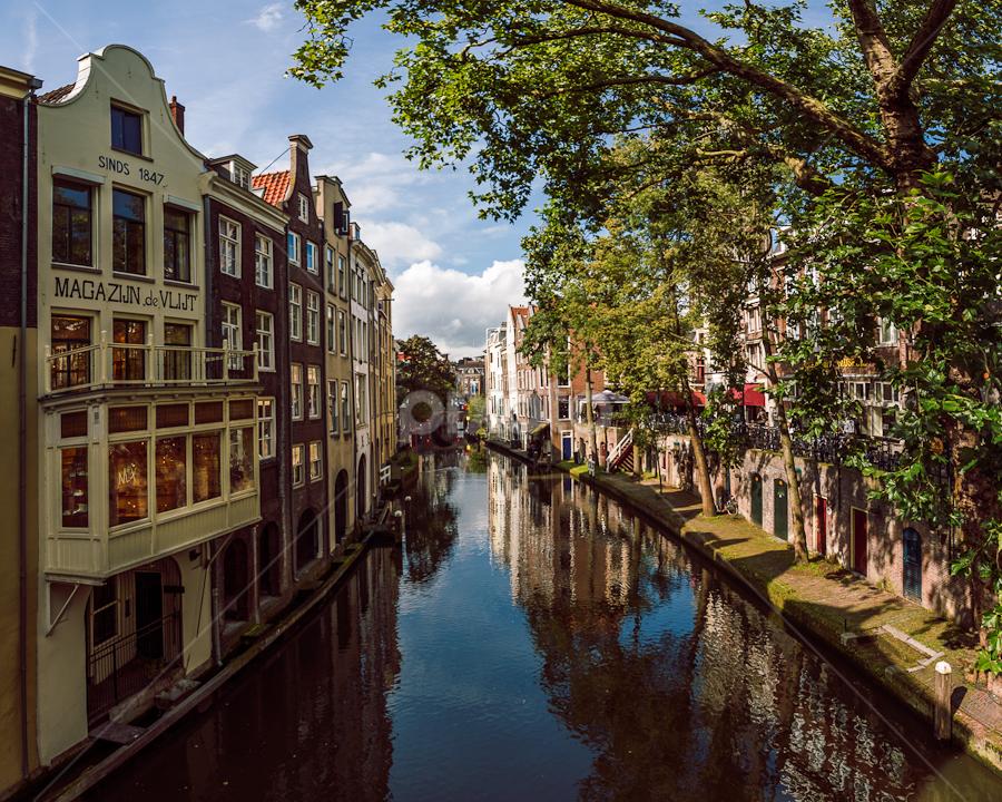 Oudegracht by Artem Sapegin - Landscapes Travel ( water, holland, oudegracht, house, utrecht, netherlands, cannal )