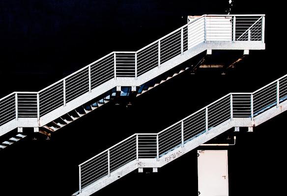 White stairs, black wall di emanuela_terzi