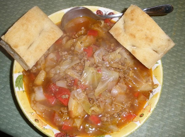 Sweet And Sour Beef Cabbage Soup Recipe