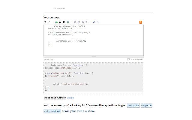 Stackoverflow Code Beautify