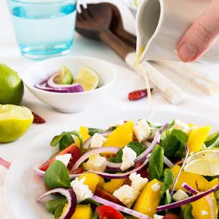 Spicy Mango Feta Mache Salad