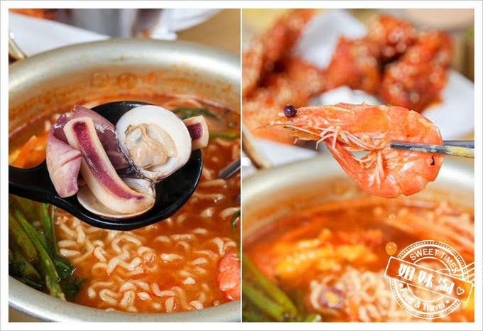 大月韓食創意料理菜單辣味海鮮韓國拉麵