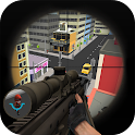 3d toon army sniper shooting icon