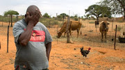 A farmer in the Eastern Cape is overcome by emotion after the NGO Droogte Hulp delivered animal feed on his farm.