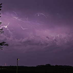 Crackle by Scott Valenzuela - Novices Only Abstract ( clouds, night photography, lighting, storm, nightscape )