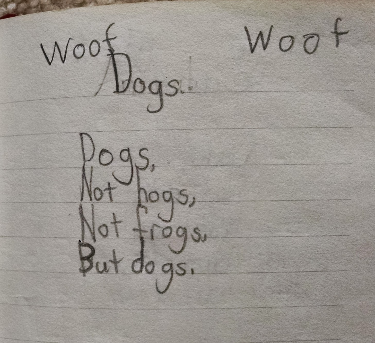 Dogs poem