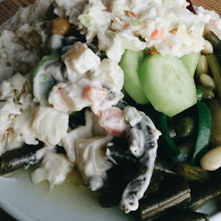 Maddy's Potato Salad With Crab and Ranch Dressing