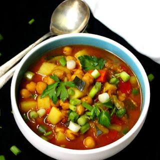 Vegan Moroccan Chickpea Stew.