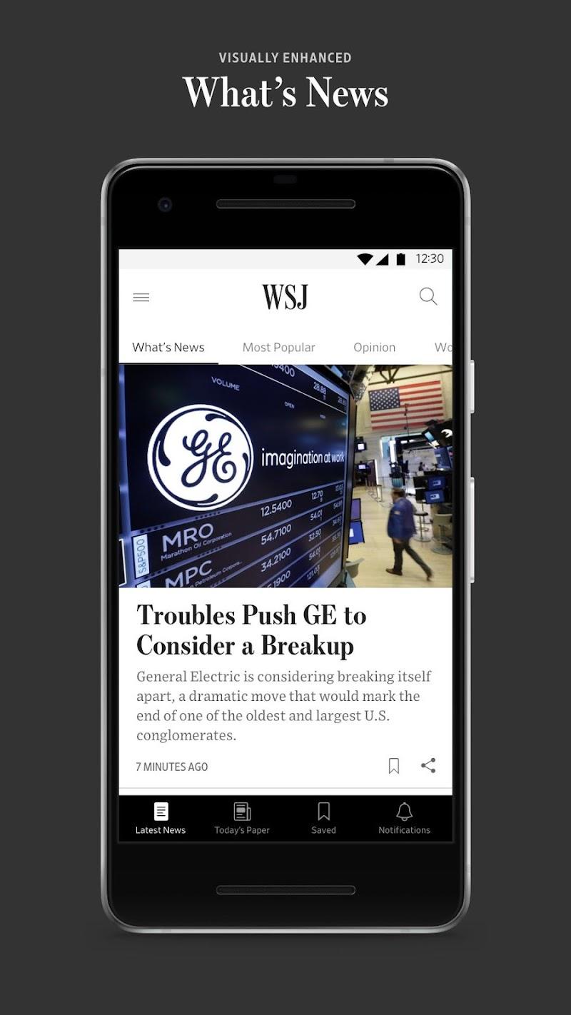The Wall Street Journal: Business & Market News Screenshot