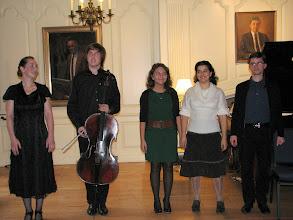 Photo: Karina Sposobina, Alexey Stadler, Yaroslava Serdobolskaya, Anna Shakina, Alexey Grigoriev after performance at Lowell House, Harvard University