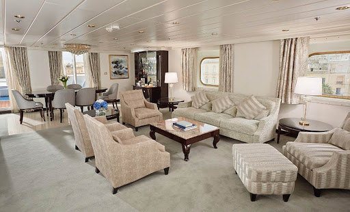 seven-seas-mariner-suite.jpg - The Living Room in the newly refurbished Master Suite on Seven Seas Mariner, which boasts 2,002 total square feet.