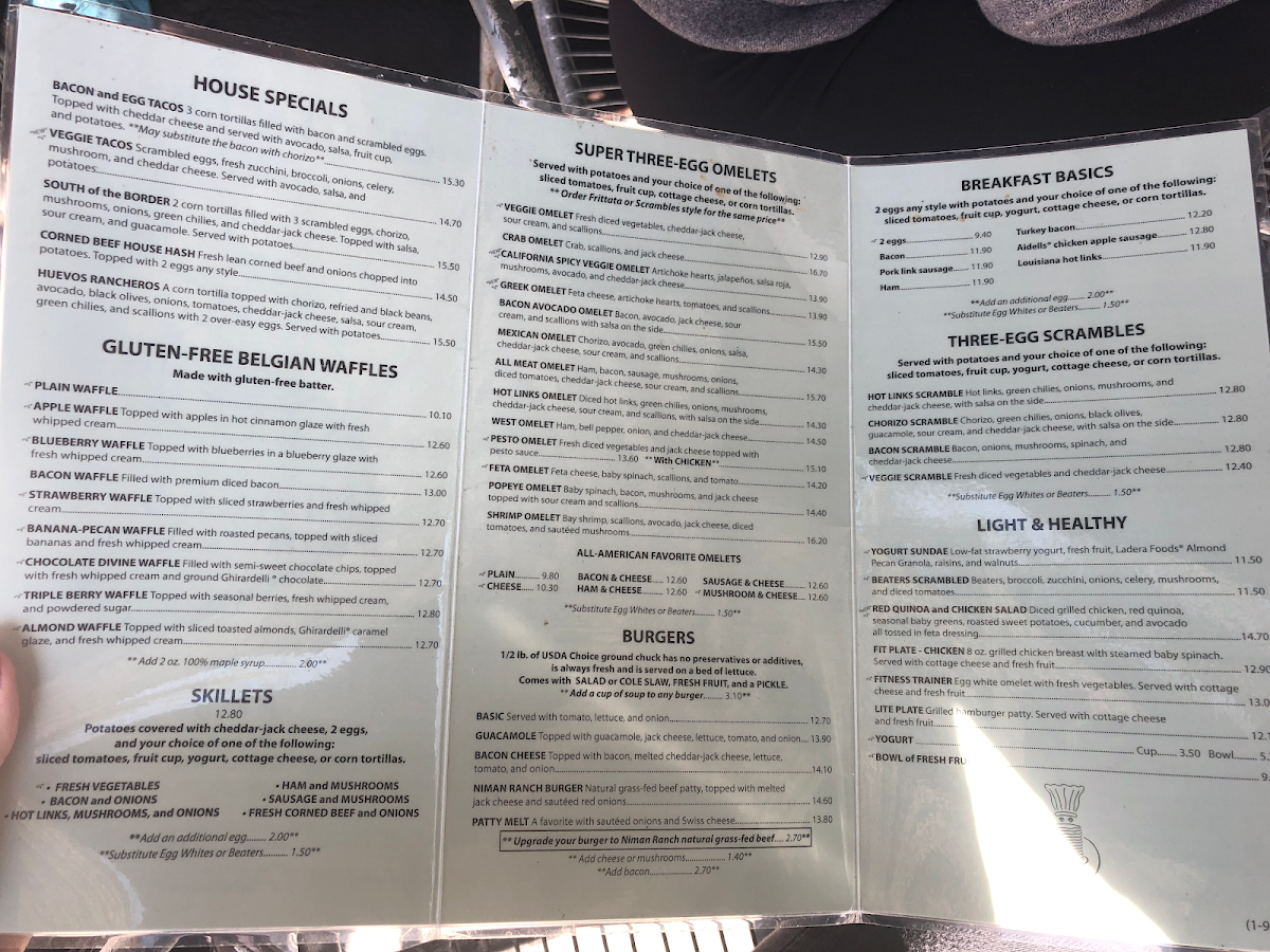 This is just the front of the menu. Huge selection!!