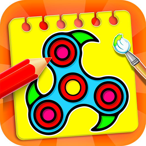 drawing game google Fidget Spinner Coloring Book Drawing Game Revenue