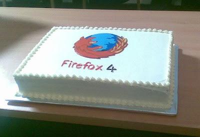 Firefox 4 cake