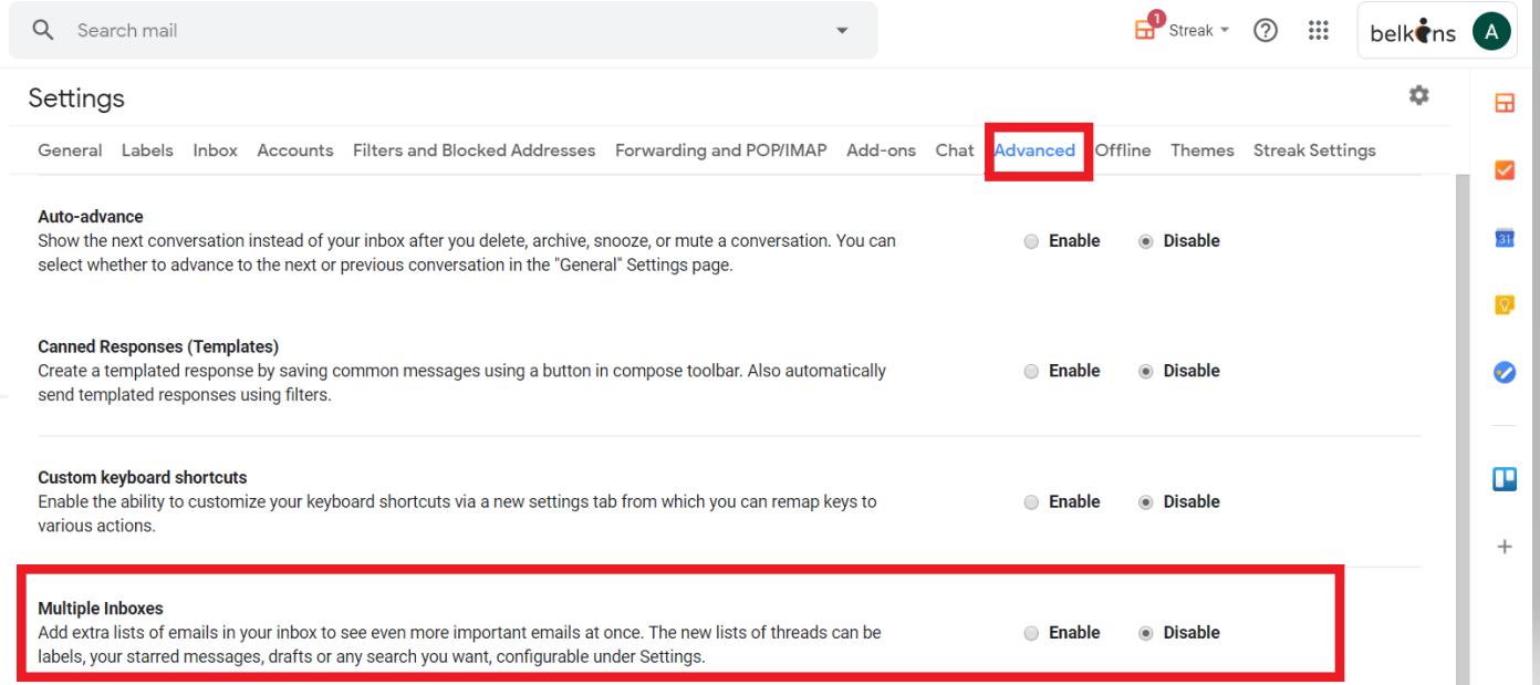 advanced gmail setting