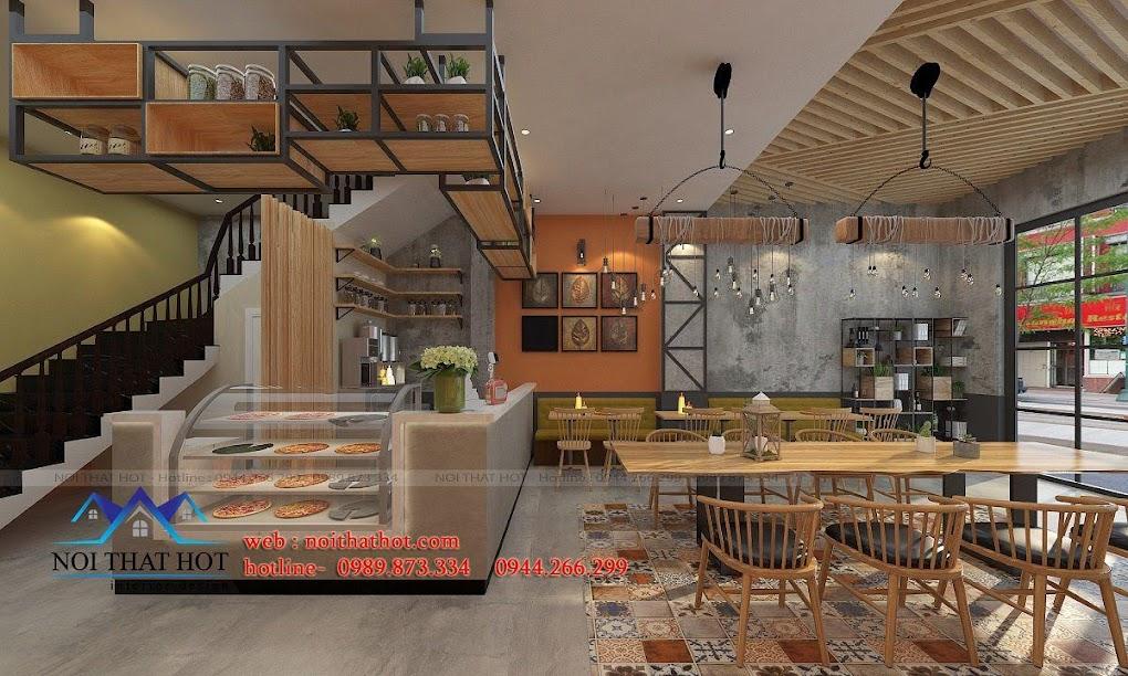 thiết kế quán pizza trà sữa 3