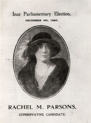 Rachel Parsons at General Election 1923