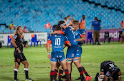 Marco van Staden of the Vodacom Bulls celebrating after scoring a try during the Super Rugby Unlocked match between Vodacom Bulls and Cell C Sharks at Loftus Versfeld on October 24, 2020 in Pretoria, South Africa.