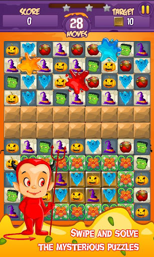 Halloween Smash 2020 - Witch Candy Match 3 Puzzle apkmr screenshots 3