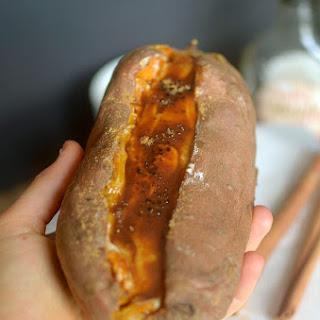 Cinnamon Roll Creme Brûlée Stuffed Sweet Potato {Paleo + Vegan }.
