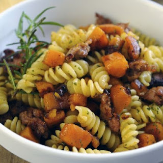 Spiral Pasta with Sausage and Squash