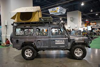 Photo: Land Rover 110 Defender, low enviromental impact expedition vehicle. SEMA 2009 in Las Vegas Nevada.