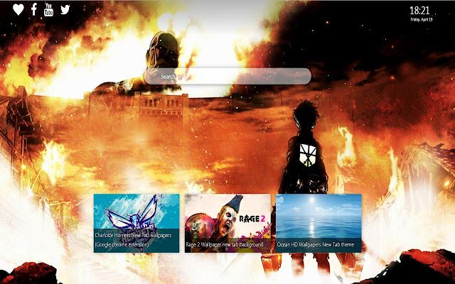 Attack On Titan Wallpaper New Tab Theme