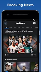 theScore: Live Sports Scores, News, Stats & Videos (MOD, Ad-Free, Unlocked) v20.13.1 2