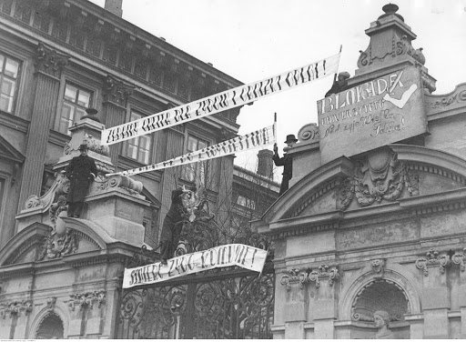 Anti-Jewish demonstrations and blockade of the University of Warsaw