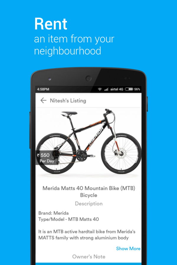 Rentomo - Rent items locally- screenshot