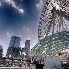 Great Wheel of Seattle by Rajib Bahar - City,  Street & Park  Vistas ( wheel, seattle, great wheel,  )