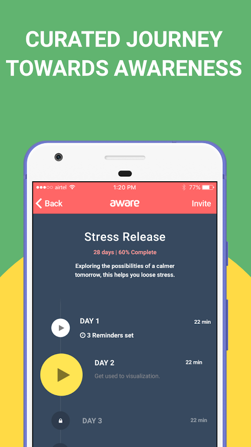 Aware - Mindfulness Meditation- screenshot