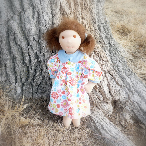 """Maggie, 15"""" Waldorf inspired doll"""