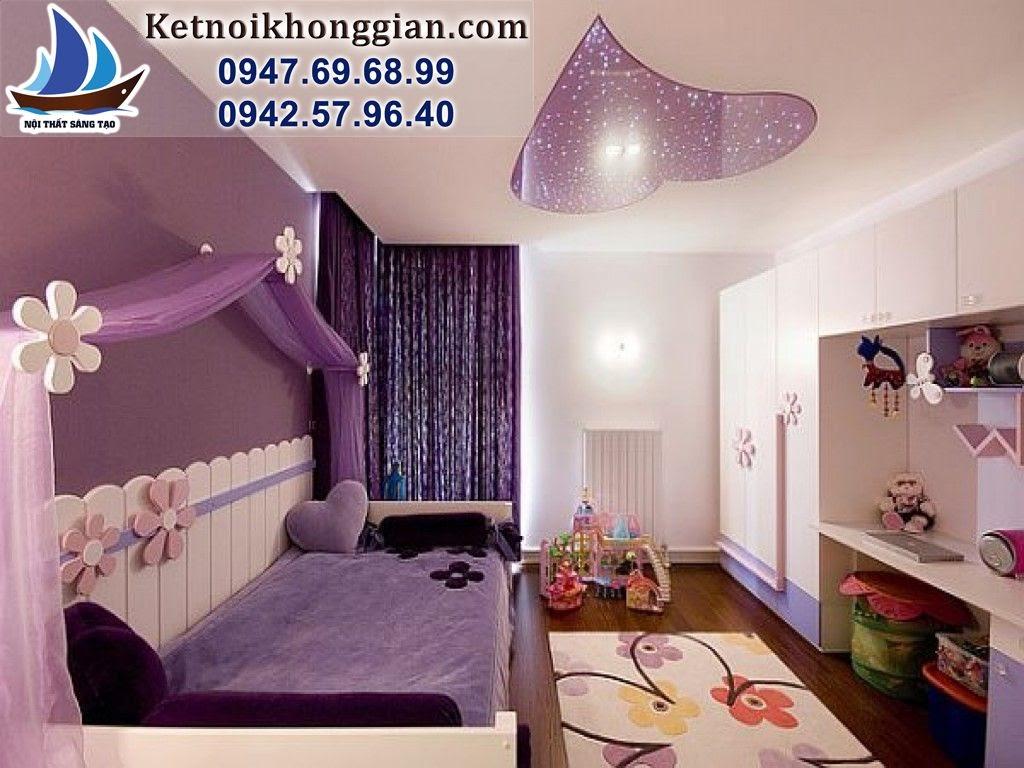 thiết kế phòng ngủ bé gái phong cách mộng mơ