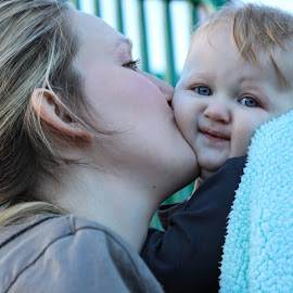 Mother and baby by Elaine Hill - Babies & Children Children Candids