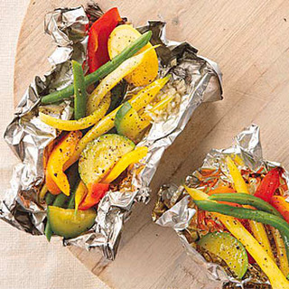 Grilled Vegetables in Foil Packets