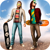 Skateboard Racing Challenge - Street Party Stunts
